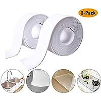 Caulk Strip cinta selladora de baño de polietileno autoadhesiva, resistente al moho, impermeable, cinta de sellado para baño, cocina, baño, bañera, esquina de pared (2 unidades)