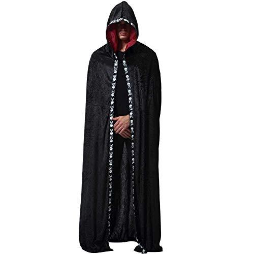 lili Halloween Kapuzenmantel Cape,Erwachsene Unisex Halloween Weihnachtsfeier Cosplay Kostüme (Genial Werwolf Kostüm)