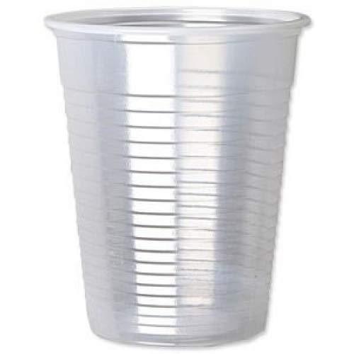 500 X Transparent 7 once solide potable Verre Tasses pour les refroidisseurs d'eau jetables pour mariage Événements Anniversaires et toutes les fêtes