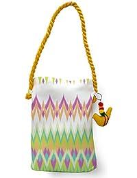 MeSleep Multi Ikat Canvas Travel Tote/ Sling Bag