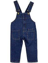 2c0a341c1d18 Salopette Bambini - Jeans Tuta Blu Denim Ragazze Ragazzi Pantaloni Lunghe  Bambino Salopette Denim