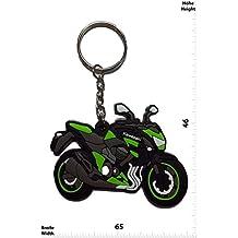 Llaveros - Keychains - KAWASAKI - MOTORRAD - BIKE - green - Motocross - Motorcycle - Motorbike - Key Ring - Kautschuk Rrubber Keyring - perfect also bags, wallets or briefcase - Give away