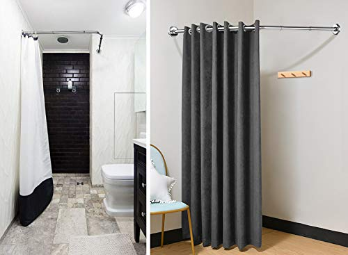 Vasca Da Bagno 100 70 : Asta per tende da doccia e vasca da bagno in acciaio inox forma