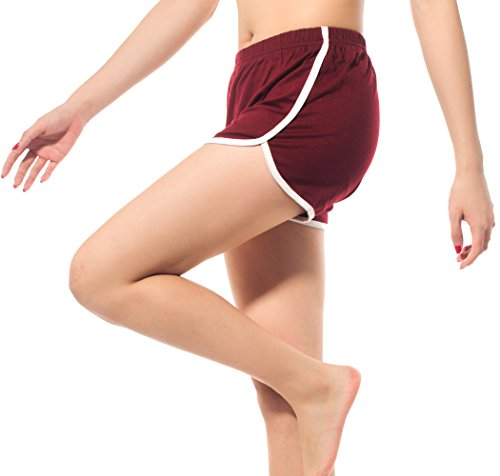DODOING Sport Short Damen, Retro Shorts, Fitness Shorts, Hot Pants, Sport Shorts Gym Yoga Shorts Atmungsaktiv Laufshorts Fitness Trainingsshorts (Hot Boyshort)