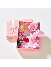 Minidar Accesorios de Pelo Clip de Pelo Conjunto bebé Princesa Cinta Horquillas niño con Caja Regalo Presente niños Arte y Manualidades Kits de 10 Piezas,Pink