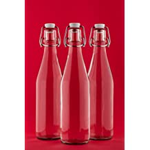 6 x 1 Litro Columpio Botella vacías de 1000 ml de vidrio con tapón de Swing