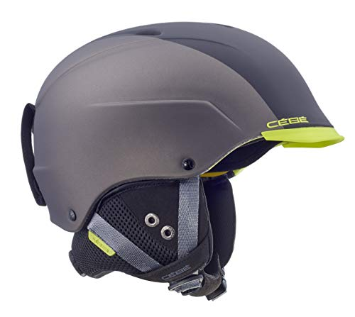 Cébé Erwachsene Contest Visor Ultimate Skihelm, Matt Black/Metallic Dark Grey, 59-61cm