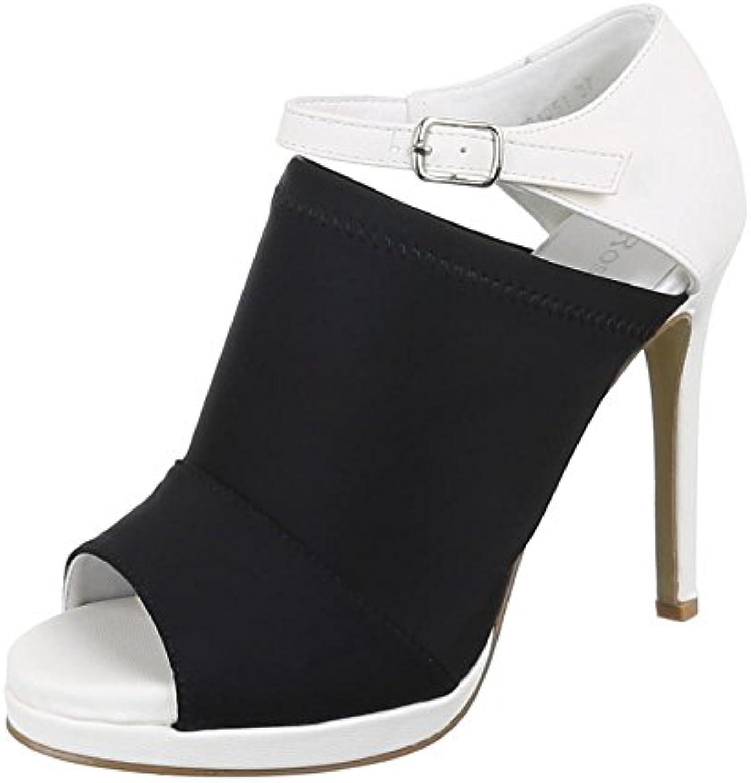 Ital-Design Damen Schuhe Z91051 Pumps High Heels Sandaletten