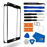 MMOBIEL Front Glas Reparatur Set kompatibel mit Samsung Galaxy Note 4 N910 Series (Schwarz) Display mit Werkzeug-Set
