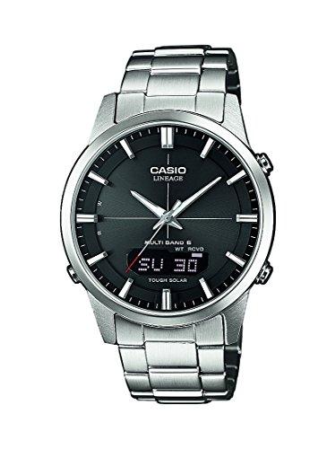 Casio LCW-M170D-1AER - Reloj Analógico/Digital de Cuarzo para Hombre con Correa de Acero Macizo y Cristal de Zafiro, 46.4 x 39.6 x 9.2 mm