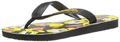 Kids Havaianas Disney Stylish Black Ruby Red Flip Flops Sandals Mickey Mouse