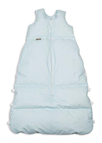 Climarelle Daunenschlafsack, längenverstellbar, Alterskl. ca 12-24 Monate, Vichy türkis, 110cm