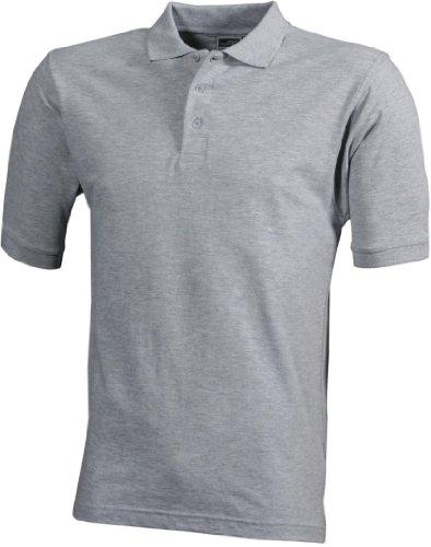 Strapazierfähiges klassisches Herren Poloshirt grey-heather