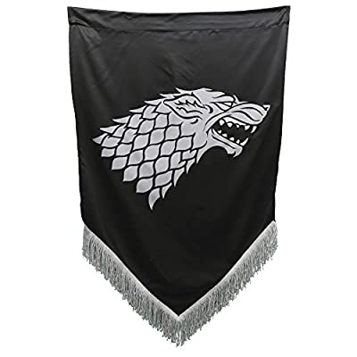 Game of Thrones Stark War Banner with Fringes