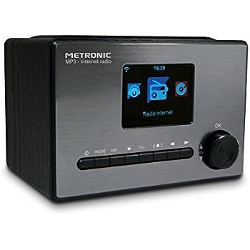metronic 477260 radio connect e internet wi fi usb 5 w noir tv vid o. Black Bedroom Furniture Sets. Home Design Ideas