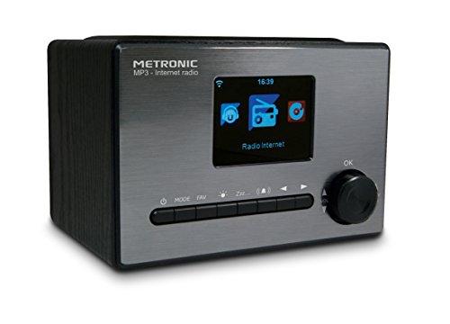 Metronic 477260 Radio connectée Internet Wi-FI/USB 5 W Noir