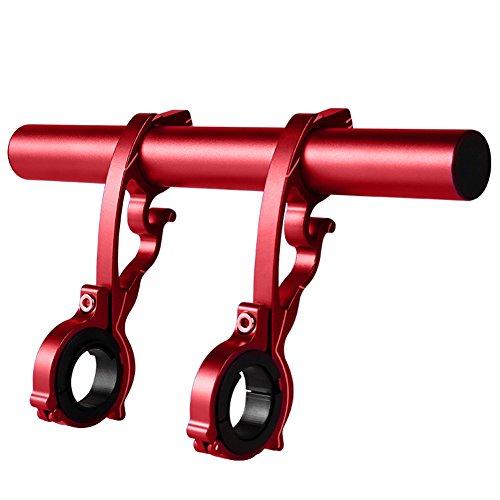 Betterle Fahrrad-Lenkerverlängerung, doppelte Lenkerverlängerung, Kohlefaser-Halterung mit Aluminiumlegierung, Fahrradzubehör, platzsparend, rot (Fahrrad-computer Mit Extender)