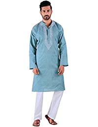 BDS Chikan Kurta for men's Lucknowi Chikan Work BDS00894