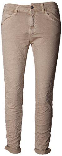 Basic.de Damen-Hose Skinny mit Kontraststreifen aus Metall-Perlen Melly & CO 8166 Beige S -