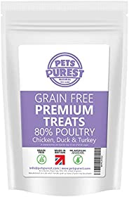 Pets Purest Grain Free Dog Training Treats - 100% Natural 800 Tasty & Healthy Treat Pack - 80% Fresh Prote