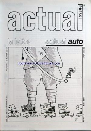 ACTUAL PRESSE [No 85] du 30/05/1981 -