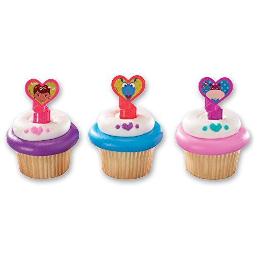 DecoPac Doc McStuffins Doc and Friends Cupcake Rings (12 Count) by DecoPac