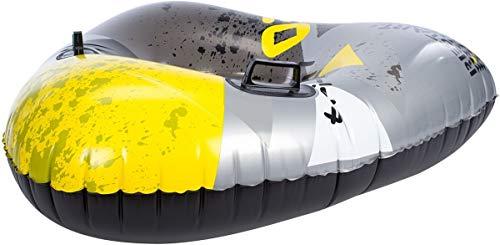 RESTART Luge gonflable triangle - Taille unique - Noir gris et jaune