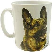 WAGGY DOGZ Smiling PASTORE TEDESCO alsaziano Cucciolo di cane prodotto in Inghilterra Regalo Presente qualità in porcellana tazza pentola