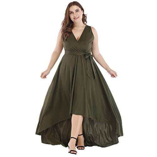 Strungten Frauen Sexy Casual Solide V-Ausschnitt Ärmellos High Low Hem Elegantes Kleid Cocktail Asymmetrische Abendgesellschaft Kleider -