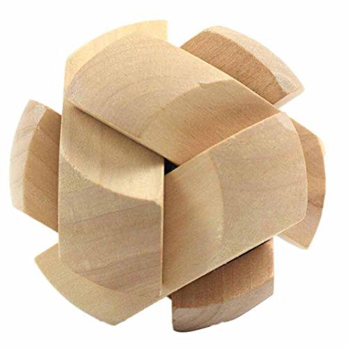 Neue 3D Holzspielzeug IQ Brain Teaser Erwachsene Pädagogische Kinder Puzzles Holz Fußball Loch Schloss pädagogisches Spielzeug Holzspielzeug Ladegerät HKFV (A)