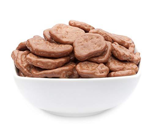 CrackersCompany Bananenscheiben in Vollmilch-Schokolade - Schokobanen - ideal als Snack, lecker zu Eis und Kuchen oder als Kaffeegebäck