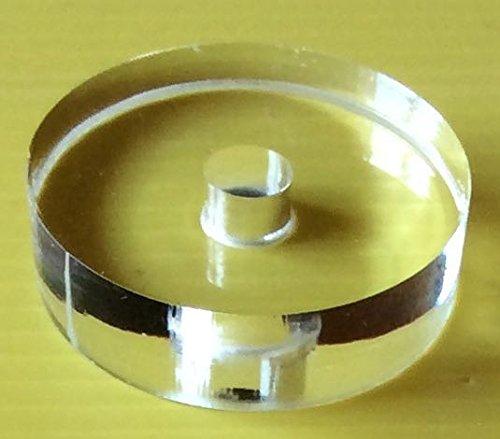 Pz 2 (Due) - Adattatore Plexiglass per giradischi per dischi vinile 45 Giri