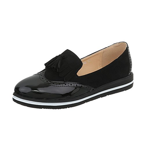 Ital-Design Slipper Damen-Schuhe...