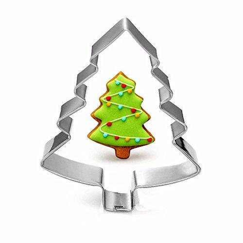 zantec Kekse für Heimwerker Biscuit Schokolade Kuchen Mousse Edelstahl Cookie Cutter Christmas Tree (Silikon-oreo-cookie-schimmel)