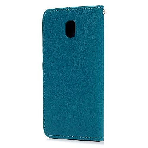 MAXFE.CO Schutzhülle Tasche Case für iPhone 6 Plus/6S Plus TPU Silikon Cover mit Diamanten Etui Protective Schale Bumper Silber Blau