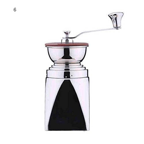 Moulin à main en acier inoxydable/broyeur à grains de café/broyeur manuel à la maison/4/6 copies de broyeur (2 couleurs facultatives) (couleur : B)