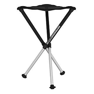 Walkstool Dreibeinhocker zum Mitnehmen Comfort, schwarz, 65 cm
