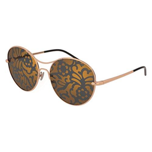 Pomellato pm0034s 003, occhiali da sole donna, oro (003-gold/multicolor), 57