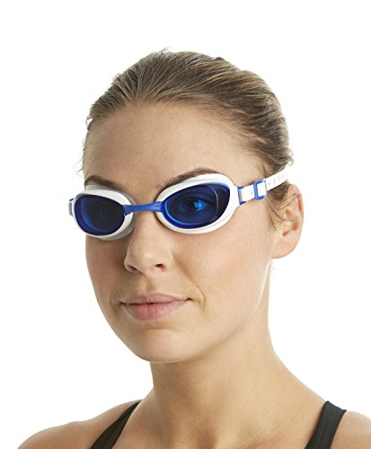 Speedo Unisex Schwimmbrille Aquapure, white/blue, one size, 8-090027960