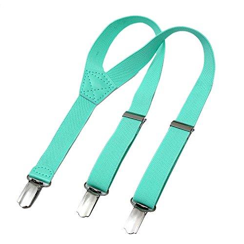 DonDon Kinder Hosenträger türkis 2 cm schmal längenverstellbar für eine Körpergröße von 80 cm bis 110 cm bzw. 1-5 Jahre