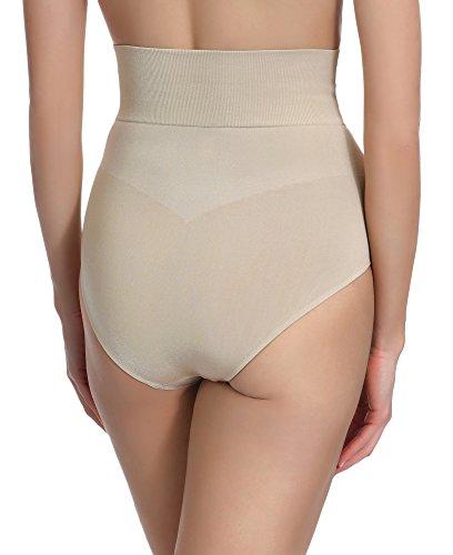 Merry Style Body Modellante Slip vita alta per Donna 06 47 Beige
