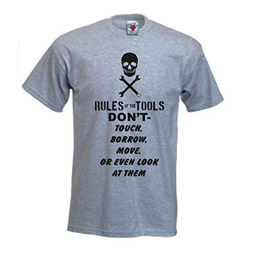 Bullshirt Vorschriften der Herren der Werkzeuge T-Shirt grau