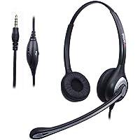Cuffie Telefono Cellulare Binaurale con Microfono a Cancellazione del  Rumore 3d7ffce05492