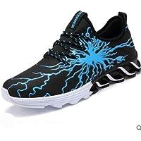 ERR Los Zapatos al Aire Libre de la Cuchilla de los Hombres/los Deportes Ocasionales Respirables de la Lona Que corren los Zapatos de los Hombres,Azul Negro,44