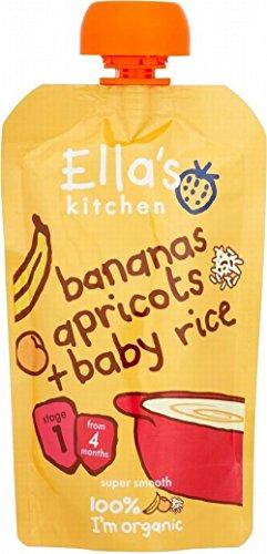 Ella's Kitchen Bananos Orgánicos, Albaricoques Y Arroz