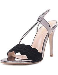Sandalias de Tacón Alto de Mujer de Verano,Mujer Romántica Sexy Club Party Zapatos de Tacón Alto Sandalias Stiletto...