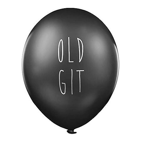 """Rude Luftballons–""""Old Git"""" x 5–gegen missbräuchliche Geburtstag Party Luftballons für Ihn"""