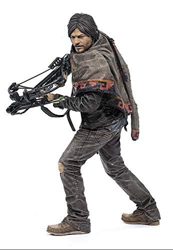 Unbekannt The Walking Dead Actionfigur Daryl Dixon, detailreiche Sammelfigur mit Zubehör/ca. 25cm Groß/Survivor Edition (Dixon Poncho Daryl)