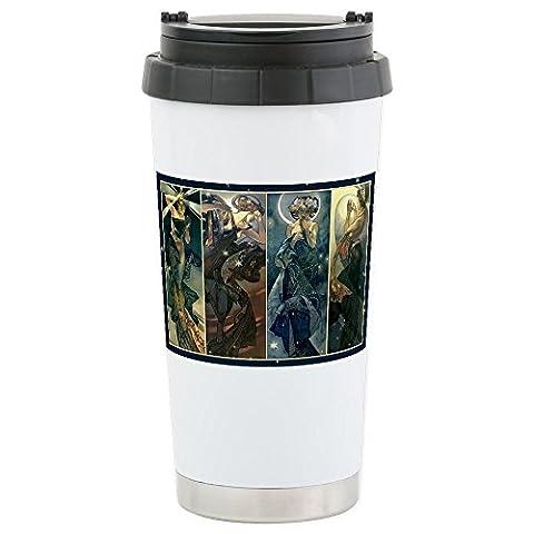 CafePress Alphonse Muchas Star; N Edelstahl Travel Tasse Keramik Tasse
