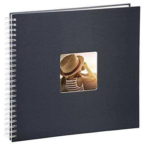Hama Jumbo Fotoalbum (36 x 32 cm, 50 weiße Seiten, 25 Blatt, mit Ausschnitt für Bildeinschub)